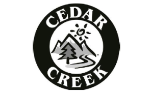 Cedar Creek logo in black and white
