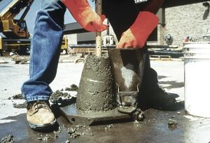 The slump test ASTM C-143 is the one most commonly used to measure the consistency of fresh concrete.