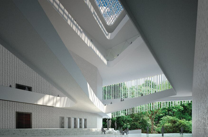 The proposed CIASMB Music Center for Social Action in Caracas, designed by U-TT as a combination music school and performance space.