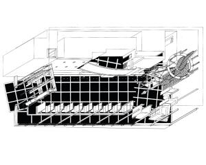 Kate Mantilini Axonometric Plan