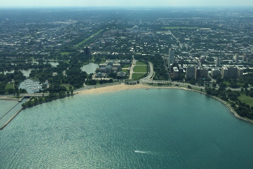 South Side of Chicago, aerial view