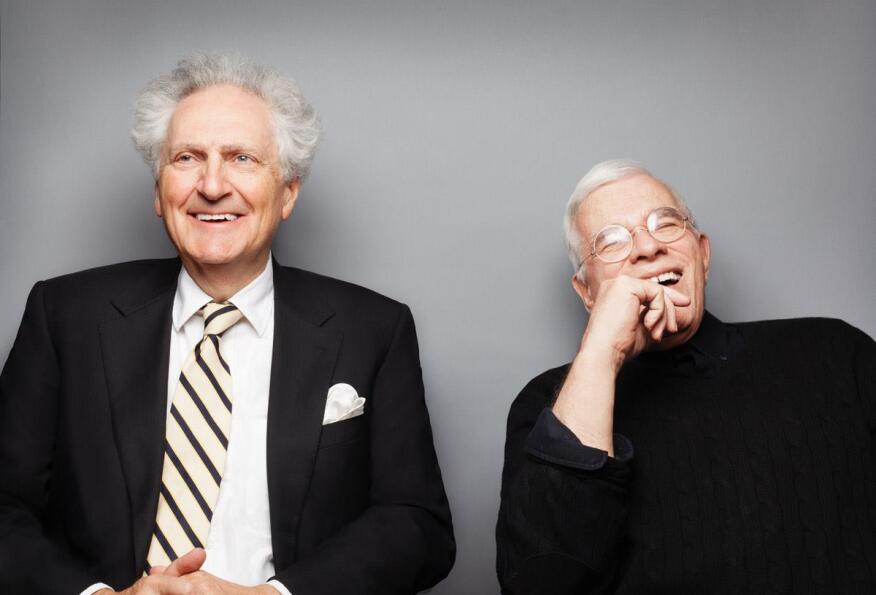Léon Krier (left) and Peter Eisenman, both professors at the Yale School of Architecture.