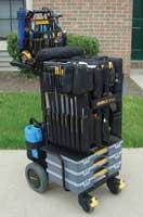 The Mobile-Shop System keeps tools organized and portable.