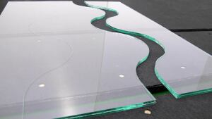 Complex geometric cuts are now achievable in safety glass.