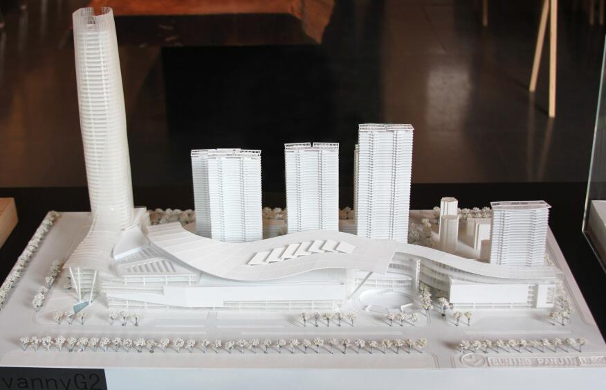 A model by Mulvanny G2 Architecture of Panjin Plaza in Panjin, China