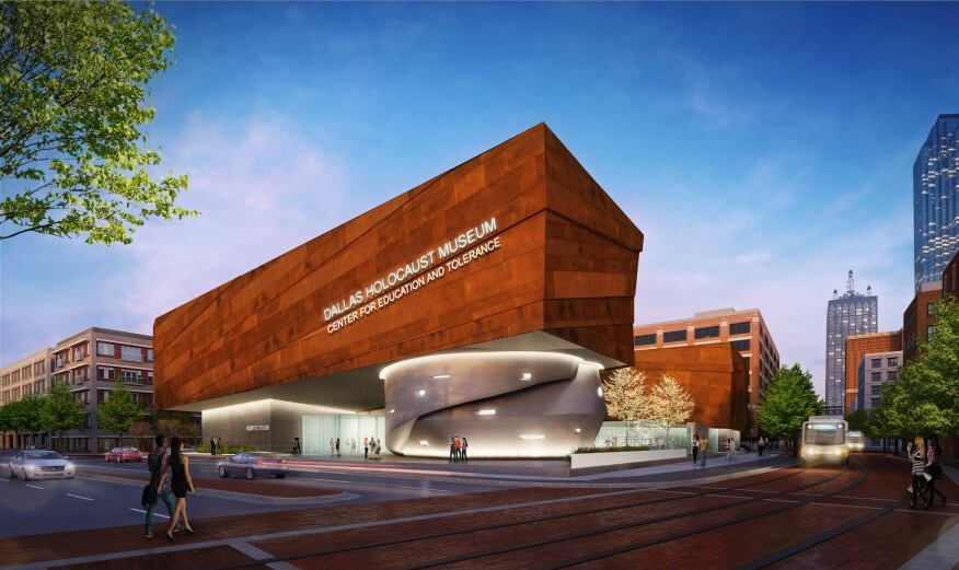 Conceptual rendering of Dallas Holocaust Museum.