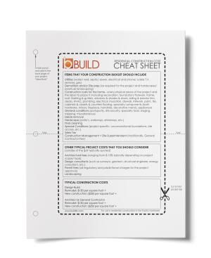 This simple cost cheat sheet helps clients get a better grasp of budget and helps you qualify those prospects ready to take on projects.