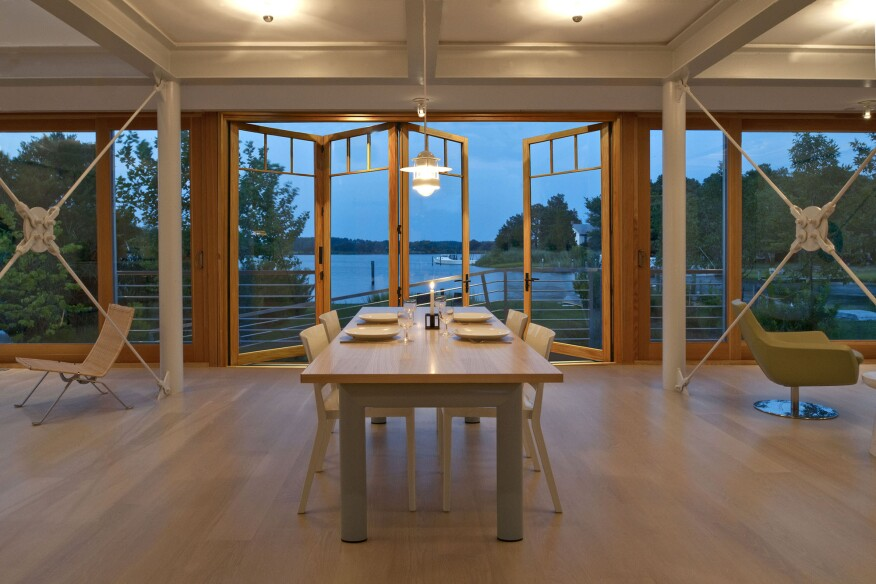Bi-fold patio doors by Weather Shield bring the outdoors in.