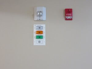 Each apartment features lights and other equipment to let residents know if there is an emergency or someone is at the door.