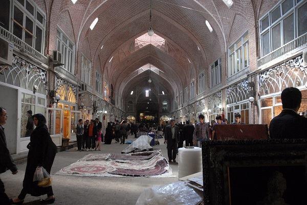 The Tabriz Bazaar renovation, by ICHTQ East Azerbaijan Office. Carpet market. Tabriz, Iran.
