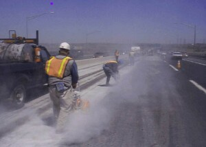 The new silica dust rules will eliminate dusty job sites like this. Photo: Wikimedia