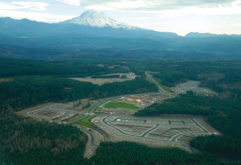 Rainier's Shadow The first homesites in Cascadia, a 4,000-acre Seattle-area development, were in place when Newland bought the picturesque project with its partner North America Sekisui.