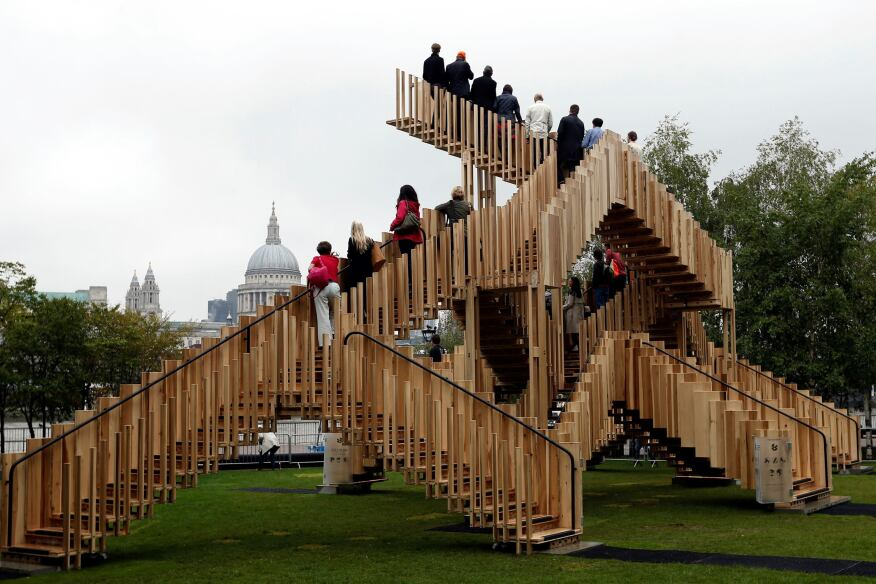 Part of the London Design Festival, Endless Stair was designed by dRMM Architects co-founder Alex de Rijke and engineered by Arup.