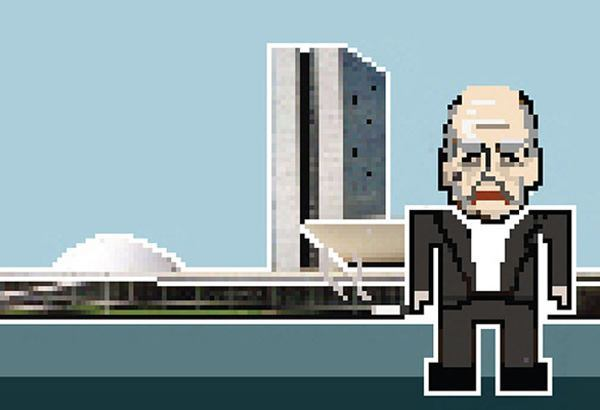 Oscar Niemeyer, with the National Congress of Brazil.