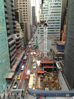 Work is underway at the Western Hemisphere's tallest residential tower in New York City.