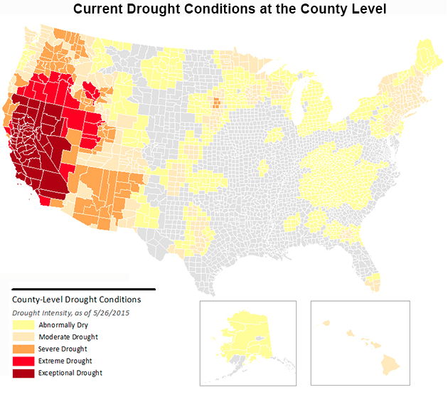 BrookingS Drought Map