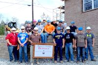 Masonry Students Complete Training, Build Retaining Wall Via Partnership