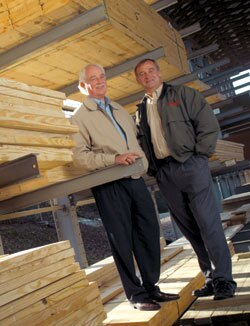 WINNERS: Carl Tindell, left, and Johan van Tilburg are the brains behind Tindell's Lumber and Building Materials, a Tennessee mainstay that dates back to 1907.