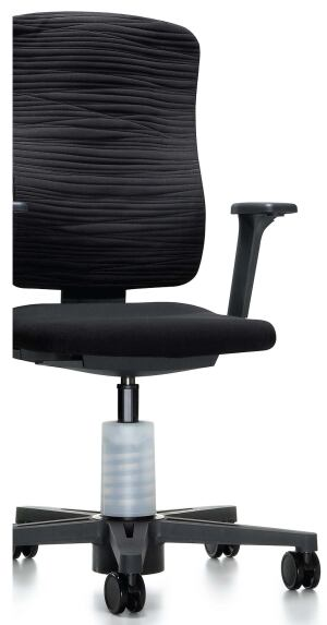 Squig chairKeilhauerwww.keilhauer.com  Ergonomically appropriate seating fits men and women - The result of seven-plus years of gender-difference research - Addresses fatigue-causing static sitting - Compensates for individual balance and center of mass - Allows full range of upper-body motion