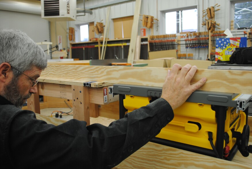 Put the saw on the platform and use a straightedge to align it with the table before attaching the platform permanently.