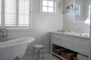 PVC's natural water-resistance makes it a good fit for use in baths
