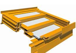 T5000 3-PANEL TRIPLE Retractable Roof Skylight