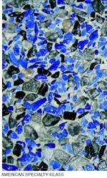 Glass aggregate is exposed in the same way as other exposed aggregate finishes.