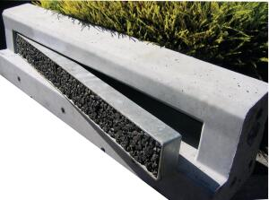 Xeripave Storm Water Grates can be made to custom specifications in order to provide surfaces that can be used by vehicles and bicycles. The grates can be infilled, separate lintel grates can be manufactured, or pavers can be placed within the catch basins. In all cases, gross pollutants are contained to keep waterways free from debris. ¢ xeripave.com
