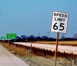 The Wisconsin state legislature had considered raising the speed limit for freeways from 65 mph to 70 or 75 mph; WisDOT was able to fulfill requests for data on existing signs to help make this decision.