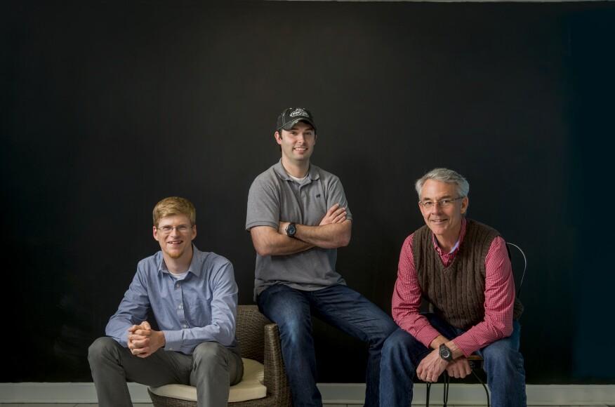Hogging Sales: Ben Johnson, left, Philip Brown, and Richard Waters of SupplyHog.com are building an online lumberyard.Photo byJamey Guy