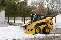 Straight snow push features durable design with rubber cutting edge