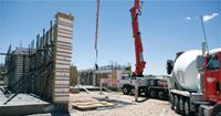 Cemex (owner of Rinker) supplied the concrete, which is typically 3000 psi for ICF walls.