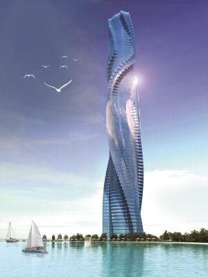 Rotating tower slated for Dubai.