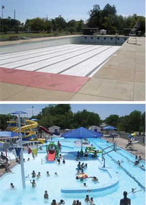 Operators across the country are being forced to find new options for old and potentially unsafe pools. In the best-case scenarios, that means renovation. Pictured: Ardmore Okla.