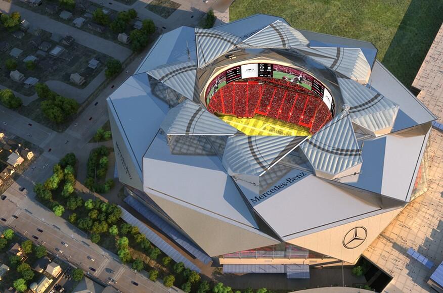 Mercedes benz stadium architect magazine hok atlanta for Mercedes benz stadium in atlanta georgia