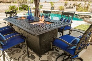 Summerset casual offers new firepit dining table pool for Concreteworks fire table