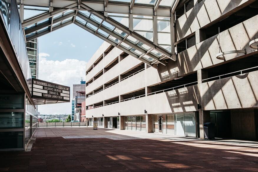 The DPAC parking garage