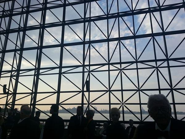 I.M. Pei's John F. Kennedy Library affords a view of Boston Harbor as Pritzker cocktails get started.