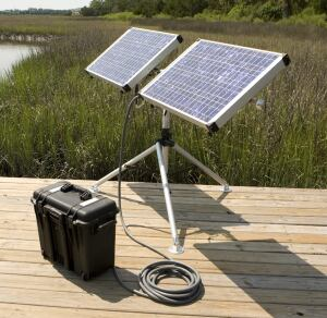 Solar Stik. The Nano-Series Solar Stik 100 & Power Pak 100 system is designed for light- to medium-duty applications and can store up to 1 kWh per day. Dual power receptacles allow for the connection of additional Stiks. The Stik transports in a reusable box or a Pelican transport case with custom foam inserts. The Power Pak has wheels and an extending handle for easy transport, the maker says. 800.793.4364. www.solarstik.com.