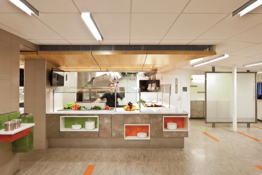 An in focus look at friends seminary cafeteria for Kitchen dining hall design