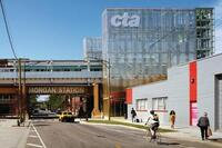 CTA Morgan Street Station, Designed by Ross Barney Architects