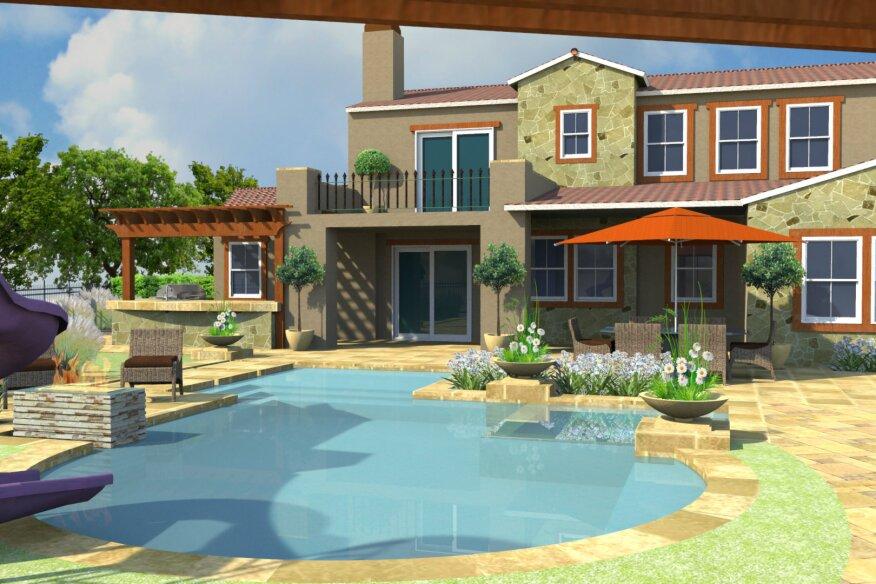 Presenting virtual backyard pool spa news design genesis for Virtual pool design