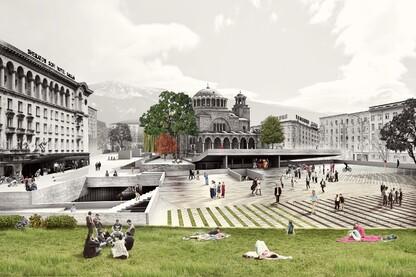 Floating Plaza, Sveta Nedelya Square, Sofia, Bulgaria