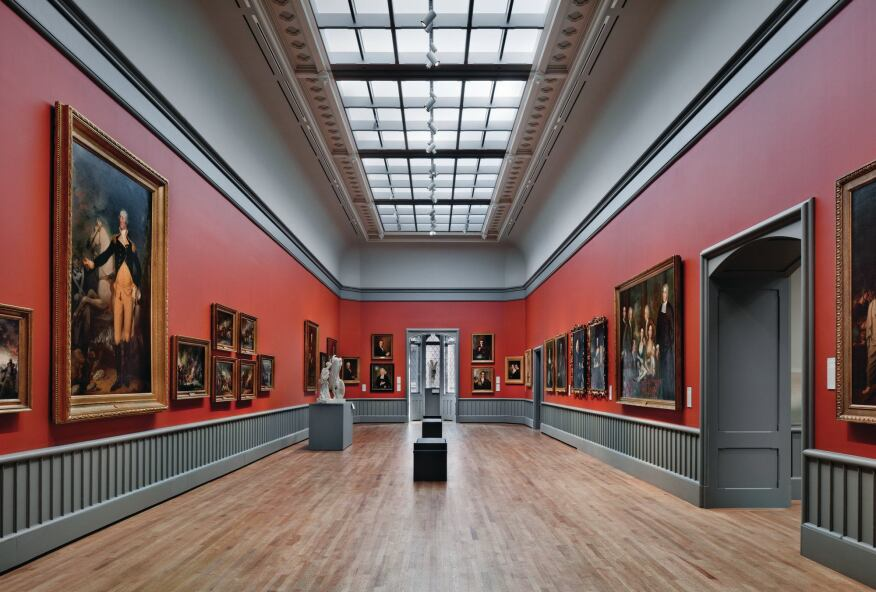 American paintings and sculpture galleries.