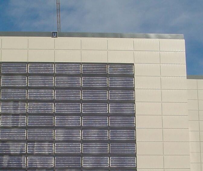 Photovoltaic Ventilated Façade from Tau Ceramica and Atersa