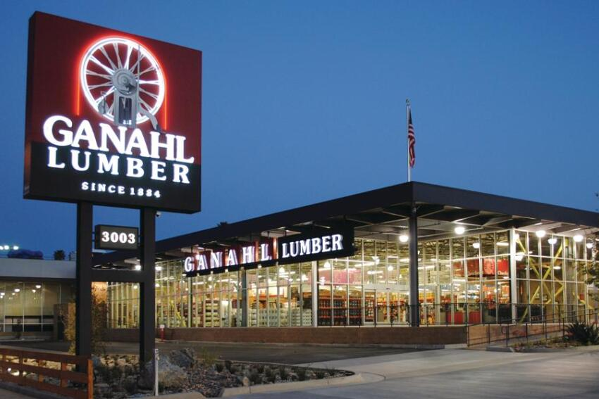 Ganahl Lumber's Converts Two Car Dealerships Into an Award-Winning Yard