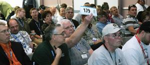 The bidding at the CIM auction raised $300,000 for the CIM program.