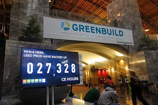 ... and counting. I've passed the Green Associate exam, but a trip to Greenbuild serves as a reminder that I'm not off the hook for learning more about LEED.