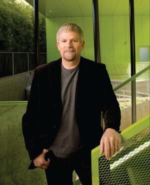The architect of ra's 2009 Project of the Year, Lorcan O'Herlihy, FAIA, photographed at his winning project, Habitat 825 in West Hollywood, Calif.