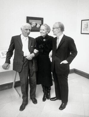 The de Menils with the painter Max Ernst.